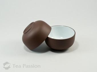 Чашка глиняная Жи Ни с глазурью